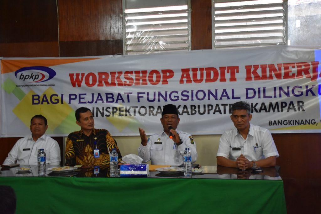 Inspektorat Kampar Melaksanakan Workshop Audit Kinerja