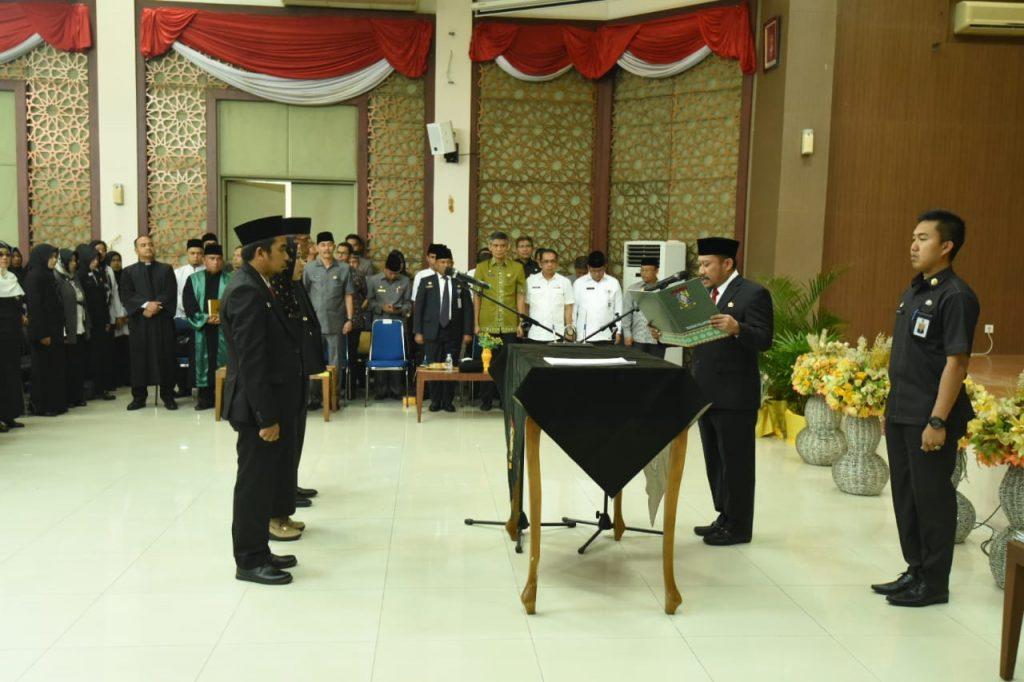 Plt.Bupati Kampar Catur Sugeng Melantik 78 Pejabat Fungsional