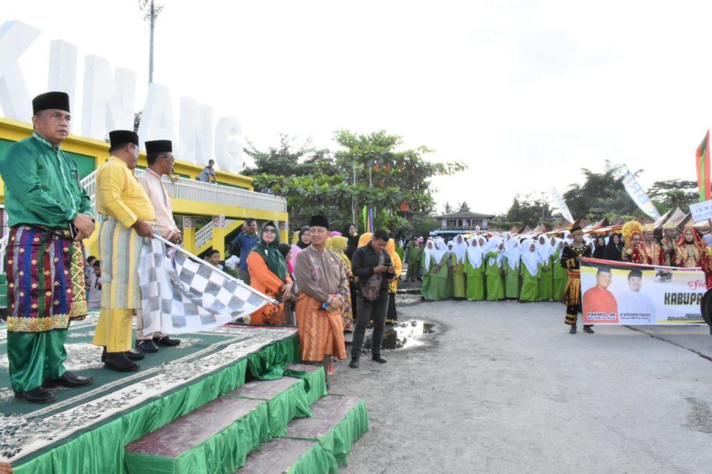 Carnaval Budaya Dan Lomang Singgang Tutup Rangkaian Memeriahkan Hari Jadi Kabupaten Kampar Ke-69