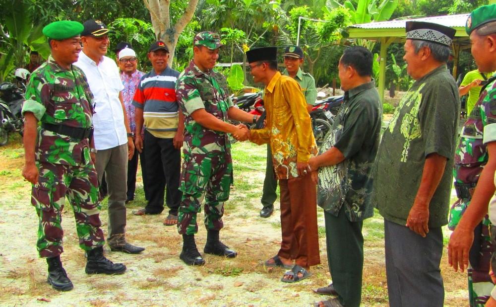 Dandim 0313/KPR Letkol Inf.Aidil Amin,S.I.P MI Pol Kunjungi Babinsa dan Danramil Se-Rohul