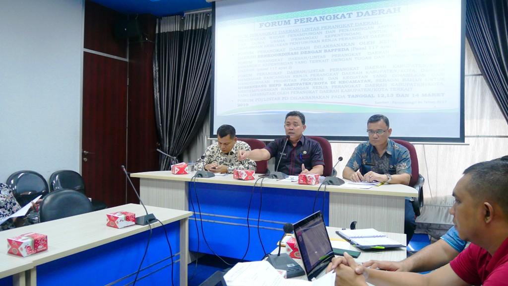Forum Perangkat Daerah Di Gelar Tiga  Hari