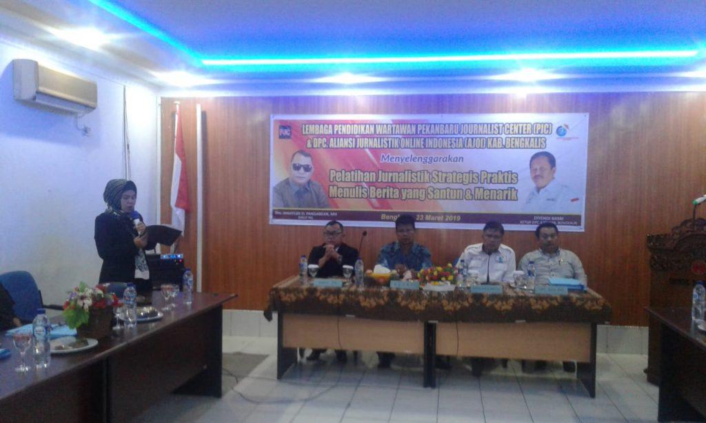 DPC AJOI Bengkalis Gandeng Lembaga Pendidikan Wartawan PJC Gelar Pelatihan