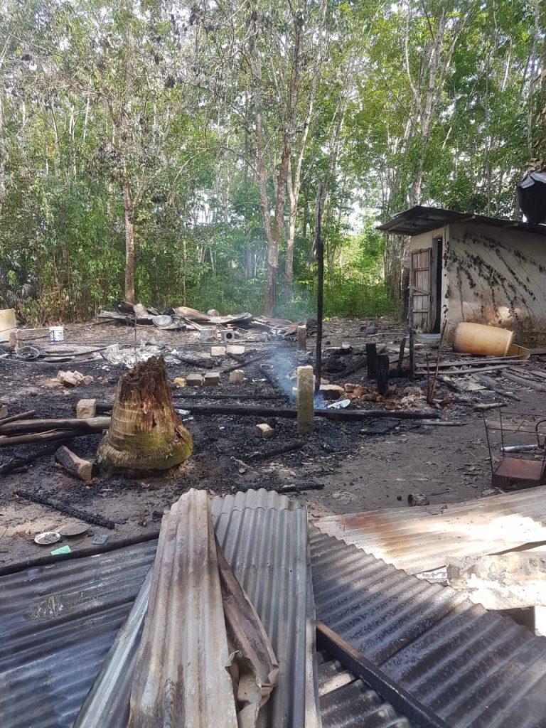 Rumah Seorang Janda diDesa Merbau diLalap  Sijago Merah Kerugian Ratusan Juta
