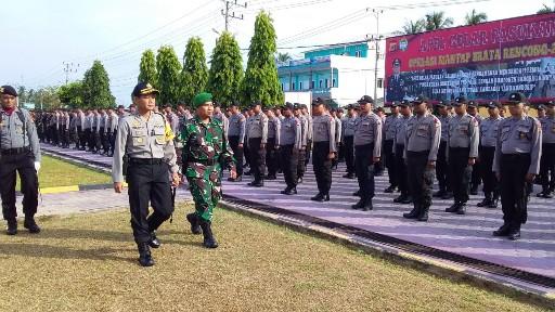 200 Personel Polres Aceh Timur Siap Amankan Rapat Rekapitulasi Penghitungan Suara