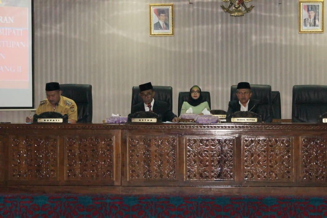Dewan Sampaikan Rekomendasi LKPJ Bupati