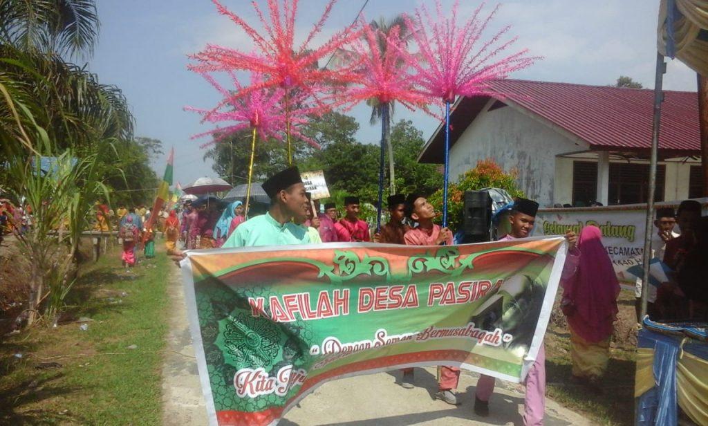 23 Desa Kecamatan Bantan Mengikuti Pawai Taaruf Dalam Rangka MTQ Tingkat Kecamatan