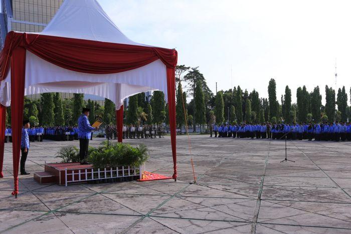 Wagubri Pimpin Upacara Peringatan Hari Otonomi Daerah ke XXIII