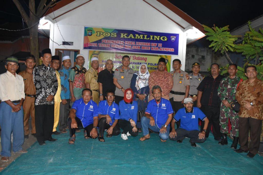 Wakili Riau Tingkat Nasional, Bupati Kampar Kunjungi Pos Kambling Tanah Merah