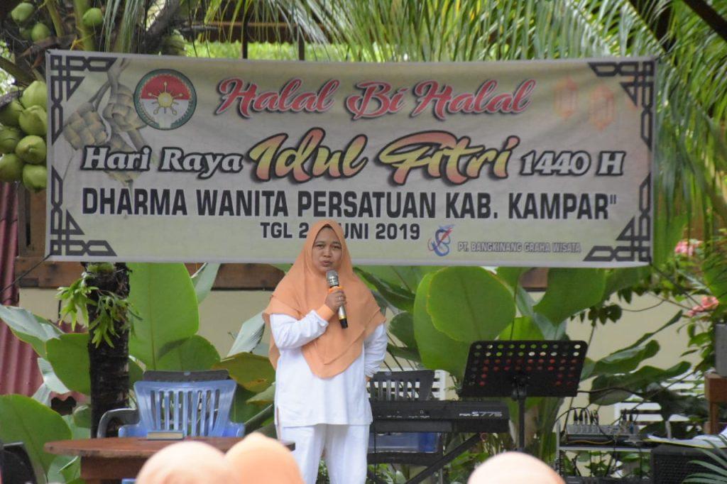 Adakan Halal bi Halal, Ketua DWP Kampar Minta Kegiatan DWP OPD Lebih Aktif lagi