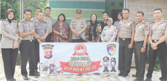 Dalam Rangka Hut Bhayangkara, Karo Rena Polda Banten Laksanakan Bakti Sosial