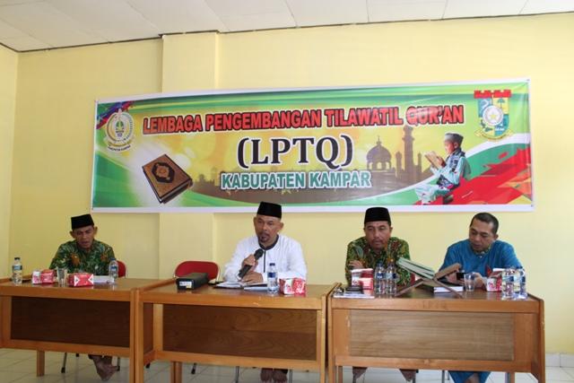 Ketua LPTQ : Himbau Maksimalkan Untuk Sukseskan MTQ Riau 38 Tahun 2019 di Kabupaten Kampar