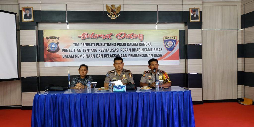 Tim Puslitbang Polri Kunjungi Polres Kampar dalam rangka Penelitian Revitalisasi Peran Bhabinkamtibmas
