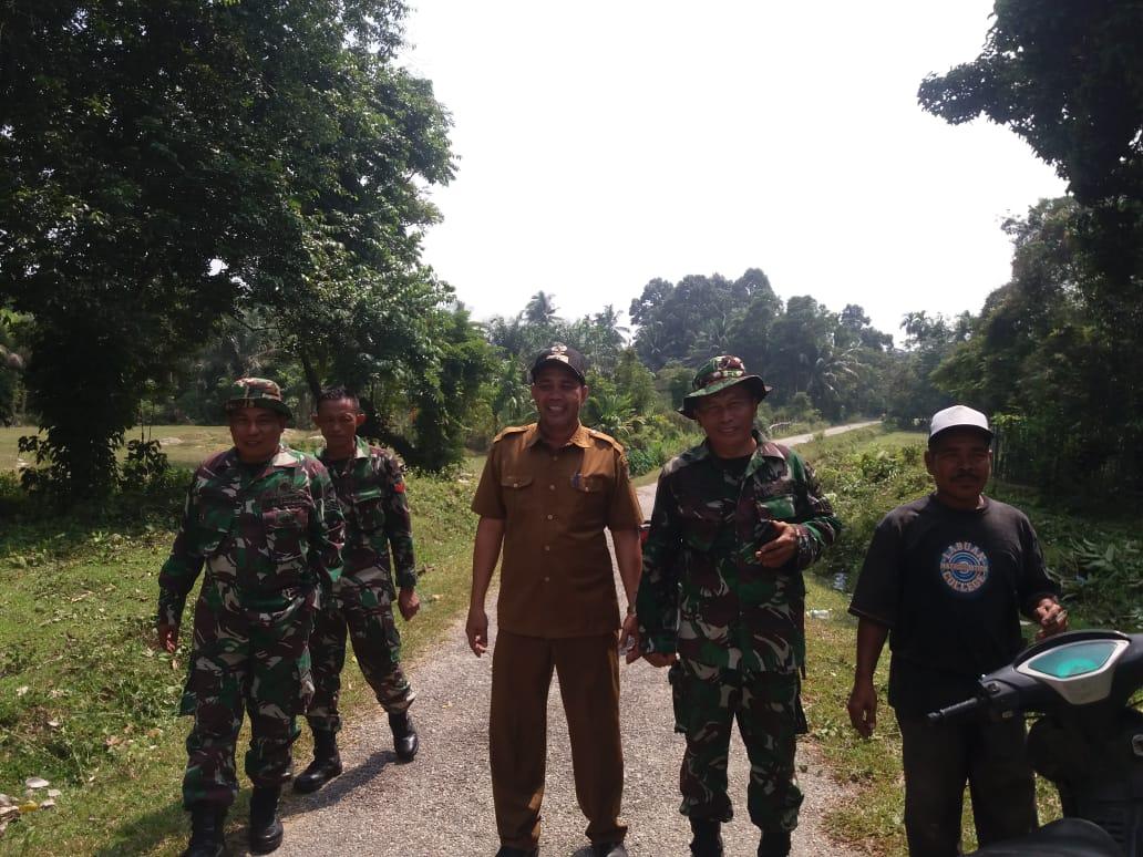 Koramil 01/Kodim 0313/KPR Laksanakan Goro di Kec. Kuok