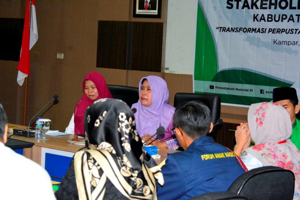Stakeholder Meeting Kabupaten Kampar Traspormasi Perpustakaan Berbasis Inklusi Sosial