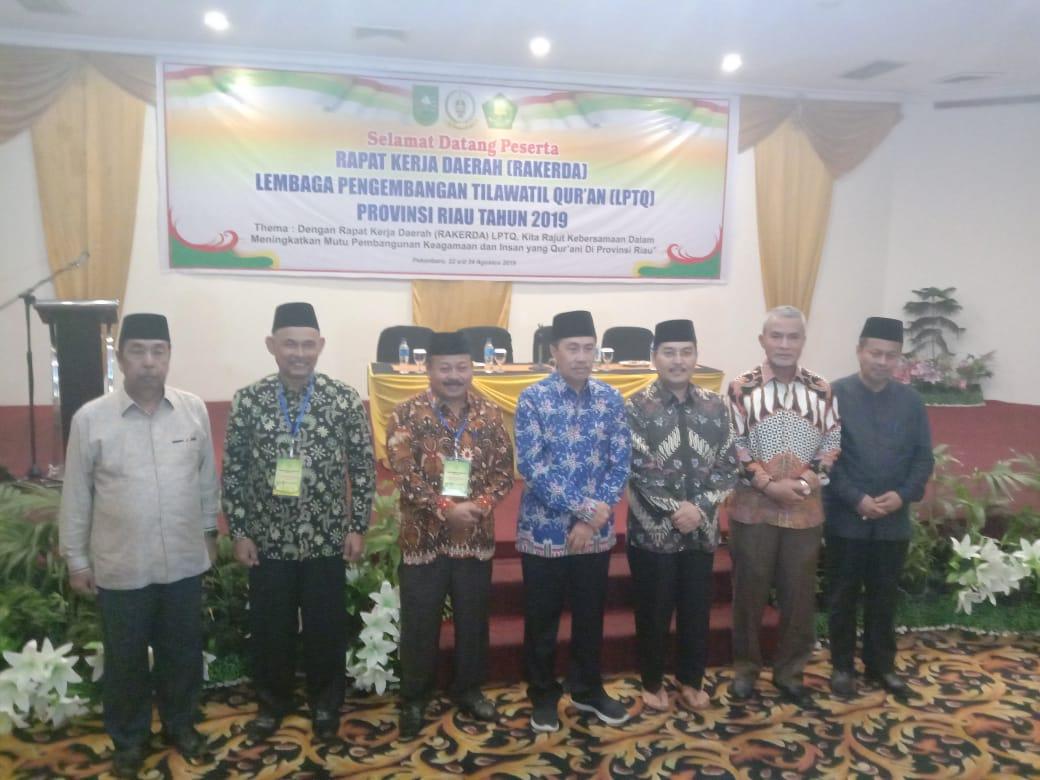 Buka Rakerda LPTQ Riau, Gubernur Riau Apresisiasi Pemkab Kampar Dan LPTQ Kampar