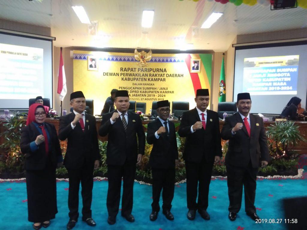 Pelantikan Anggota DPRD Kampar Periode 2019-2024