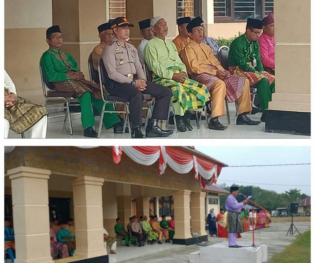 Peringati HUT Riau Ke 62, Pemerintah Kecamatan Benai Gelar Upacara