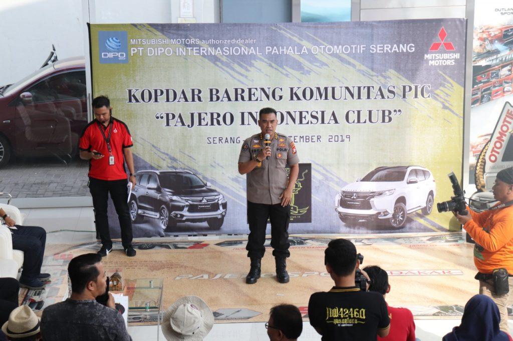Kabid Humas Polda Banten Hadiri Kegiatan Rally Fun Pajero Indonesia Club