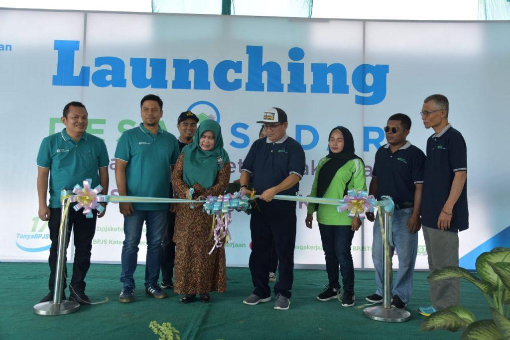 BPJS Ketenagakerjaan Launching Desa Sadar Jaminan Sosial Ketenagakerjaan di Desa Sei Lembu Makmur