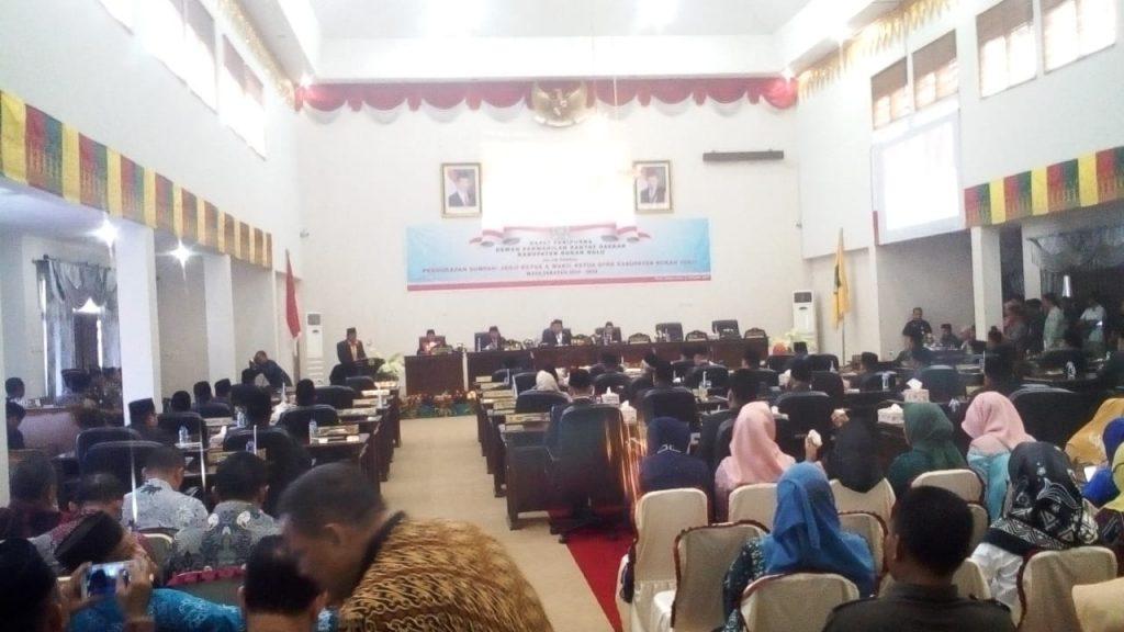 Rapat Paripurna DPRD Dalam Rangka Pengucapan Sumpah/janji Ketua dan Wakil Ketua DPRD Kabupaten Rohul