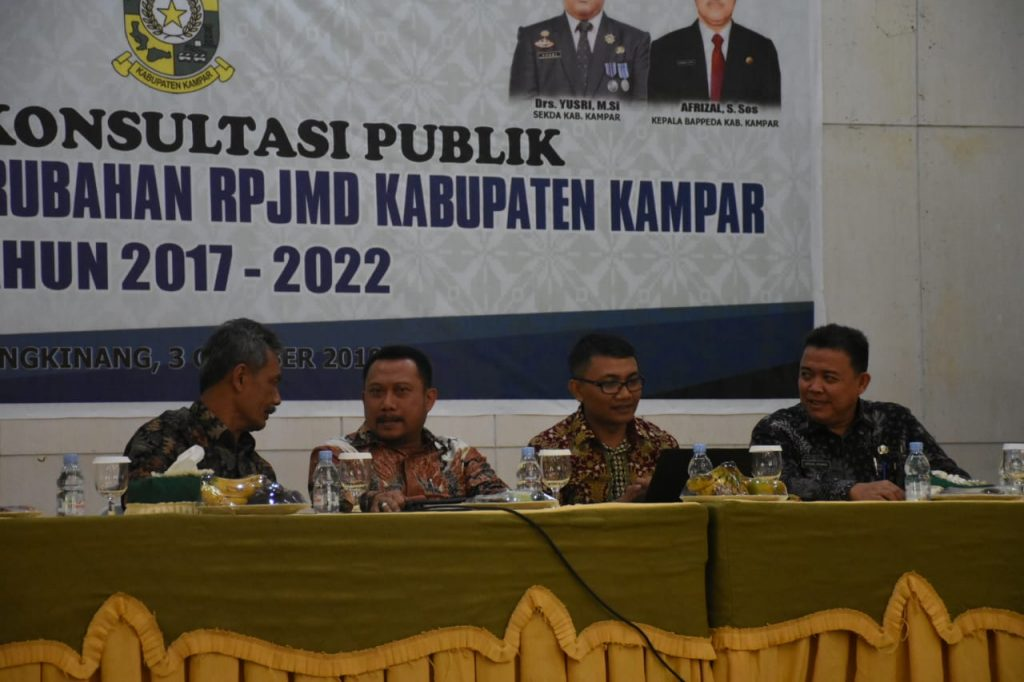 Tidak Hadir Dalam Forum Konsultasi Publik Rancangan Awal RPJMD, Bupati Kampar Berikan Teguran Pertama