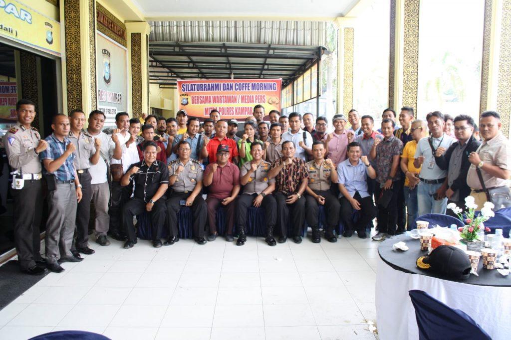 Kapolres Kampar Gelar Koffe Morning dan Silaturahmi Bersama Insan Pers