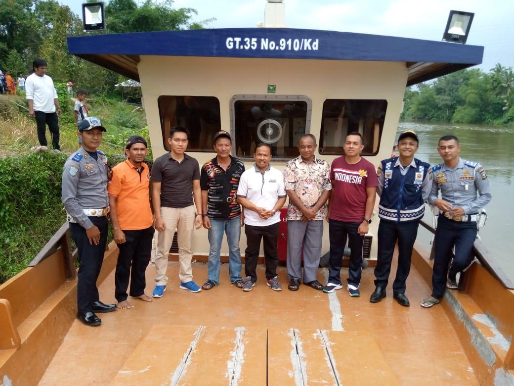 Kapal Hibah Dari Pemerintah RI Telah Sampai Di Kabupaten Kampar