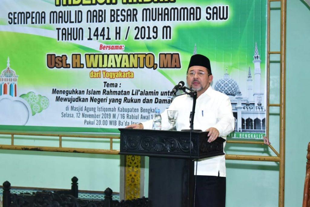 Pemkab Bengkalis Memperingati Maulid Nabi Muhammad SAW Tahun 1441 H di Masjid Agung Istiqomah Bengkalis
