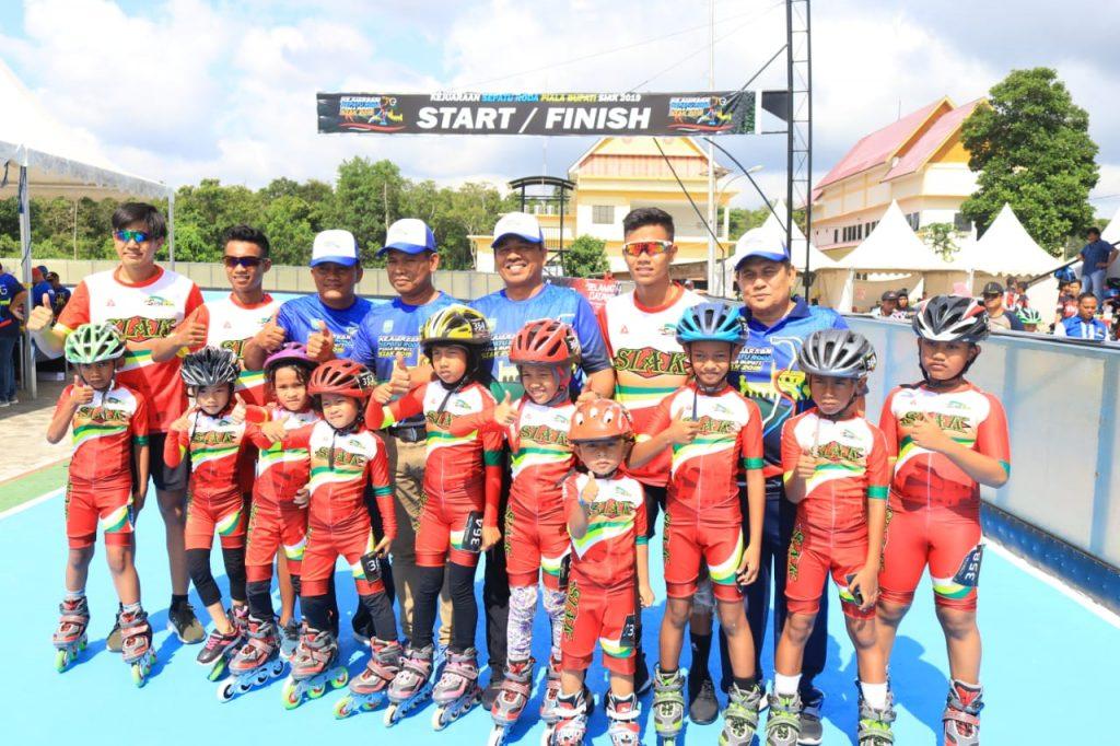 383 Atlit Ramaikan Kejurnas Sepatu Roda Piala Bupati Siak