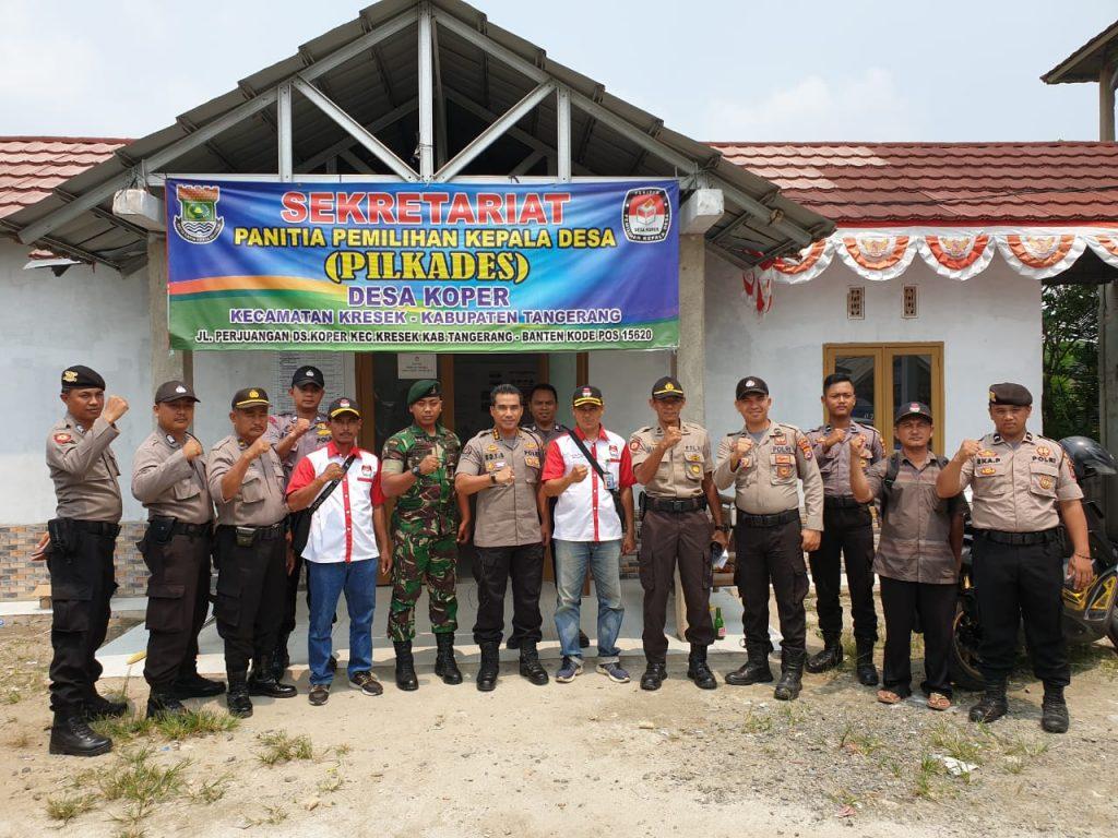 Sambangi Personel Pam Pilkades, Kabid Humas Polda Banten Berikan Motivasi kepada Anggota