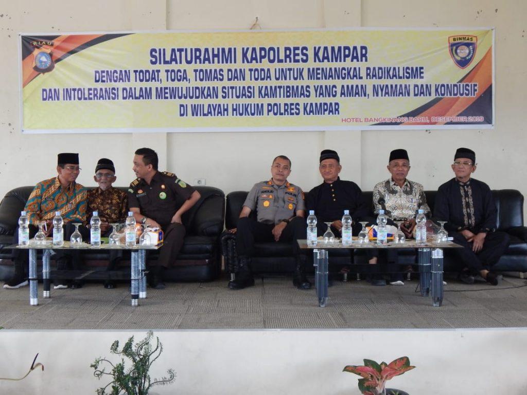 Kapolres Kampar Gelar Silaturahmi Kamtibmas Dengan Tokoh Adat, Tokoh Agama dan Tokoh Masyarakat