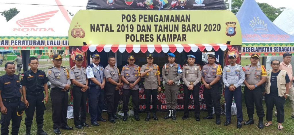 Kapolres Kampar Cek Pos Pam Ops Lilin 2019 dan Tinjau Arus Lalin di Jalan Lintas Riau – Sumbar