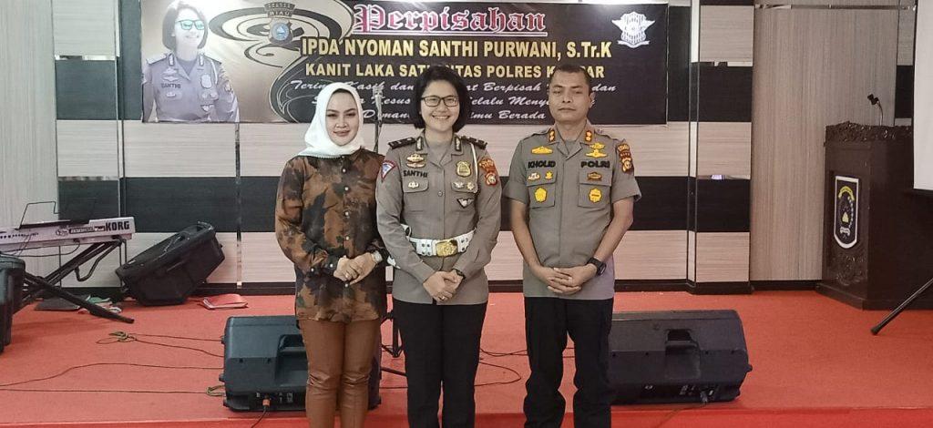 Kapolres Kampar Lepas Kepindahan Ipda Nyoman Santhi Ke Polda Metro Jaya