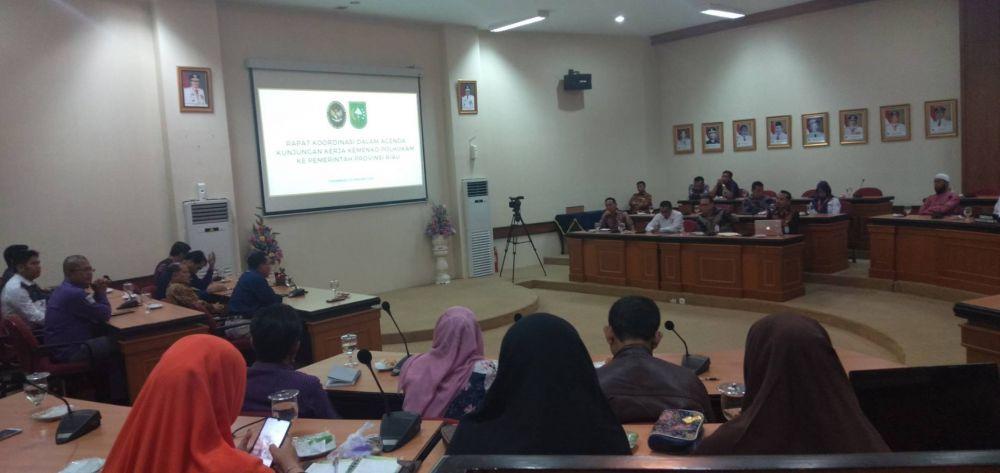 Bahas Keterbukaan Informasi, Pemprov Riau Gelar Pertemuan Dengan Pejabat Kemenko Polhukam