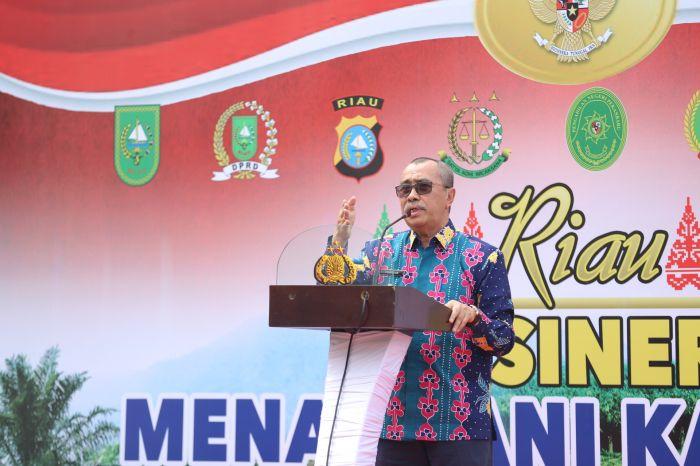 Gubri dan Kapolda Resmikan dan Launching Posko Relawan Karhutla
