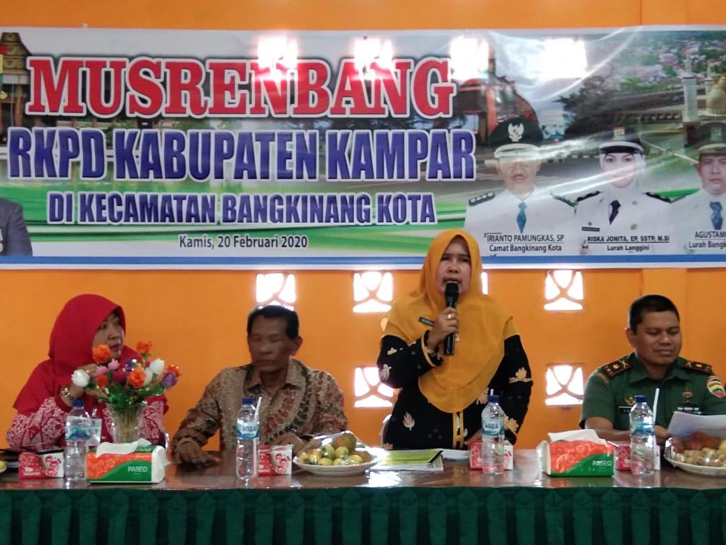 Kecamatan Bangkinang Kota Paparkan Musrenbangcam Prioritas Tahun 2021