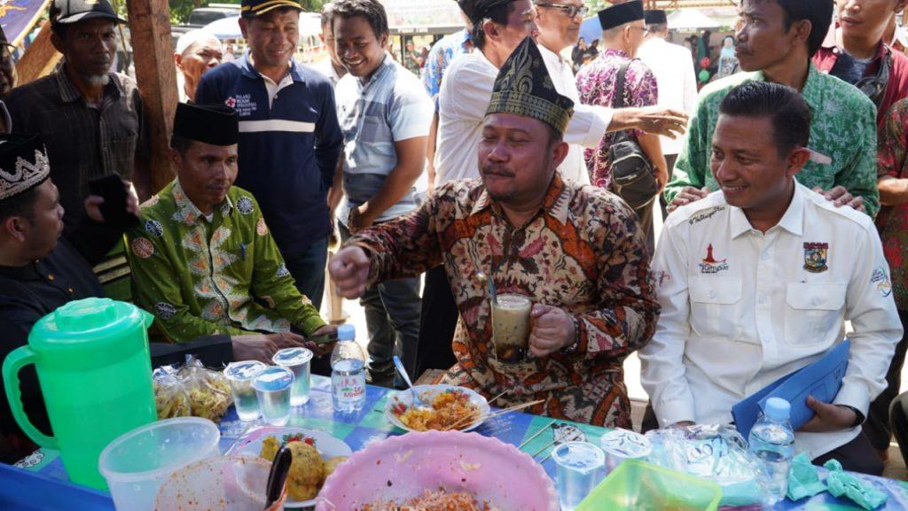 Bupati Kampar Resmikan Pasar Pekan Tua di Kawasan Restorasi Kesultanan Kampa
