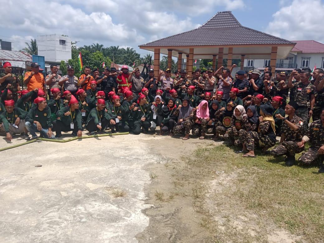 Diklat Terpadu Dasar Ansor Banser Angkatan XIX di Kec. Gunung Sahilan diikuti 100 Anggotanya