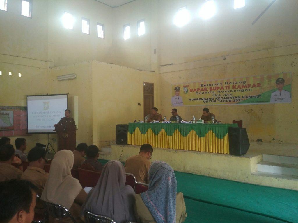 Asisten III Setda Kampar Pimpin Musrenbangcam di Kecamatan Kampar