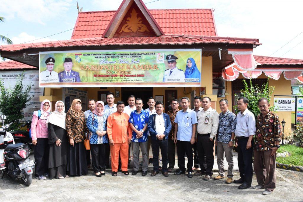 Sukses Kelola Dana Desa, Koto Tibun Ditinjau Irjen Inspektorat Kemendes