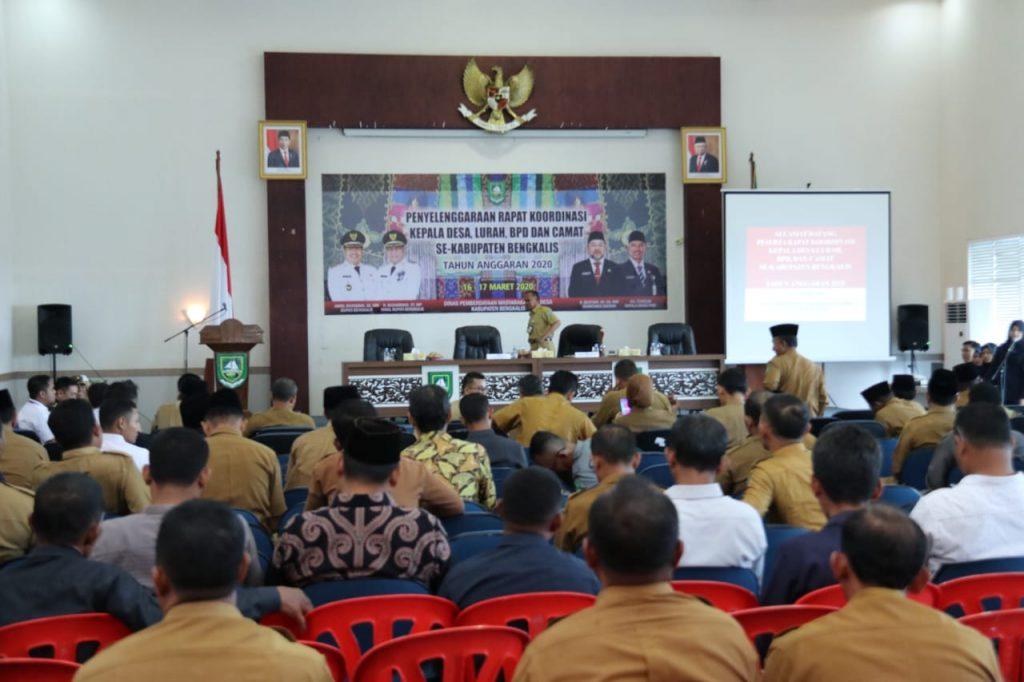 Rakor Kepala Desa dan Lurah Se-Kabupaten Bengkalis Resmi Dibuka