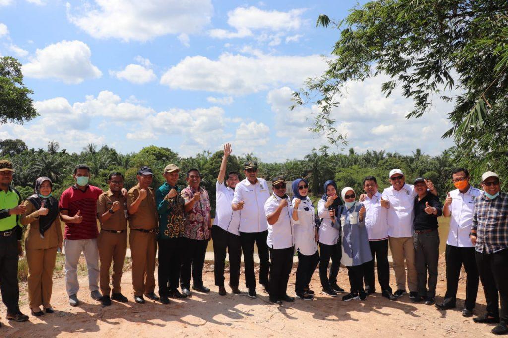 Kunker ke Rohul, Komisi IV DPRD Riau Tinjau Pelaksanaan Pembangunan Jalan dan Jembatan
