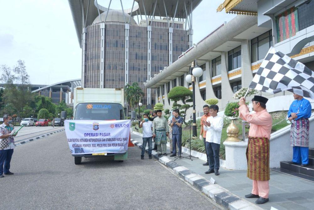 Sambut Ramadan, Pemprov Riau Launching Operasi Pasar