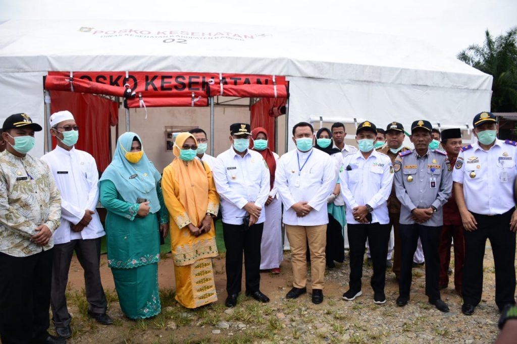 Bupati Kampar Dampingi Pertemuan Gubernur Riau Dan Sumbar di Perbatasan