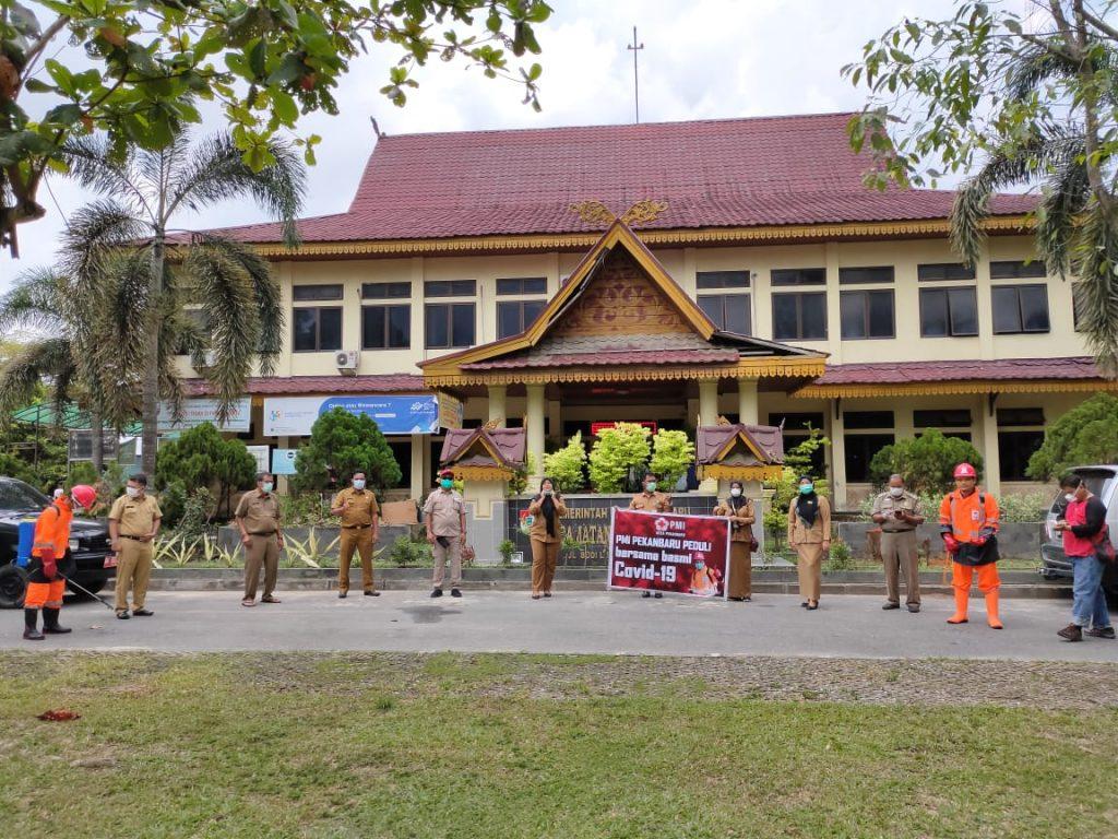 PMI Pekanbaru Peduli Sterilisasi Pelayanan Kecamatan Tenayan Raya