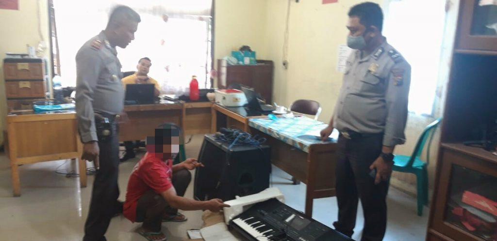Warga Desa Kualu ini Ditangkap Polsek Tambang, Diduga Terlibat Pencurian di Gereja