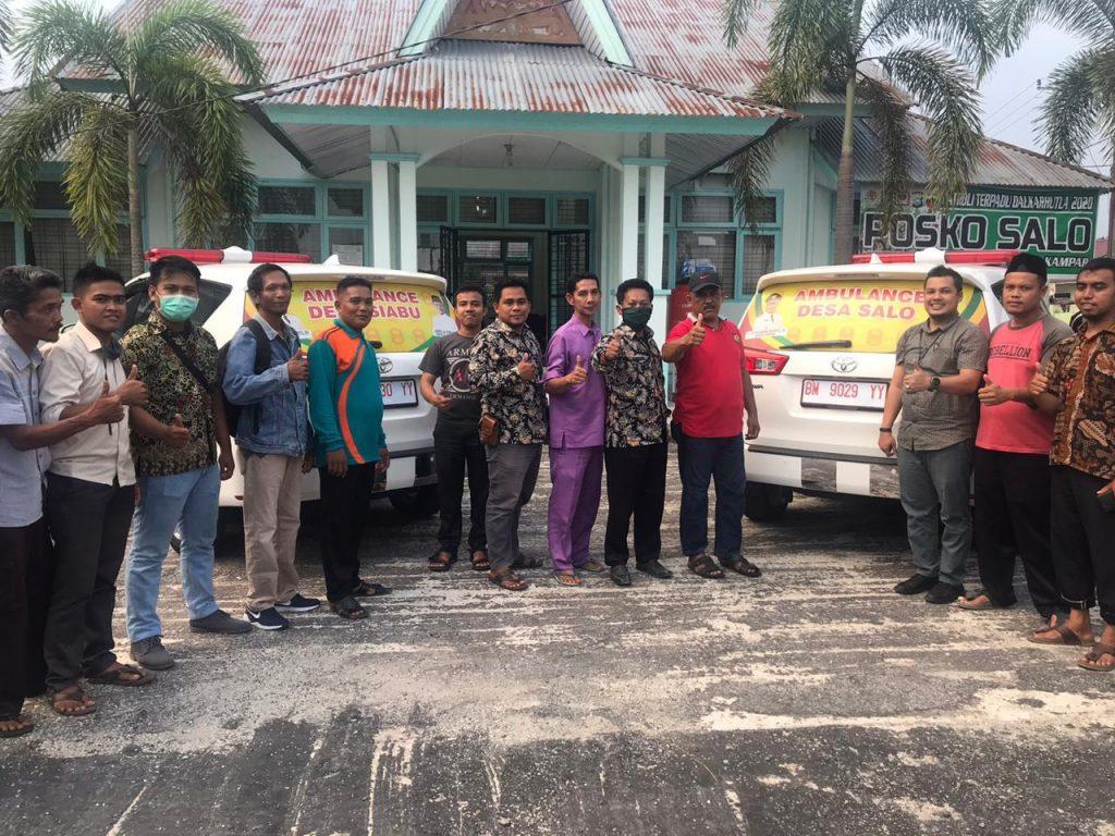 Pemdes Salo Terima Bantuan Mobil Ambulan Dari Pemkab Kampar