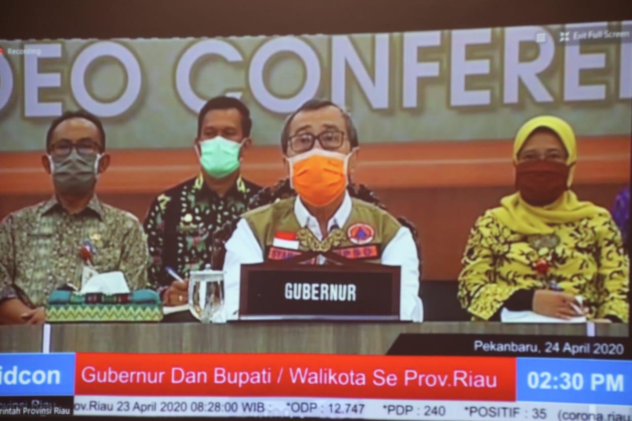 Vidcon Gubri Terkait Arahan dan Aturan Pemberian Bantuan Sosial Bagi Masyarakat Terdampak Covid-19