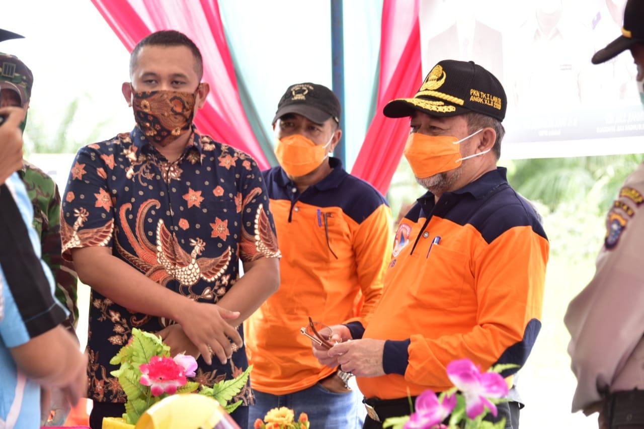 Plh. Bupati Bengkalis Tinjau Posko Covid-19 Kecamatan Bandar Laksamana