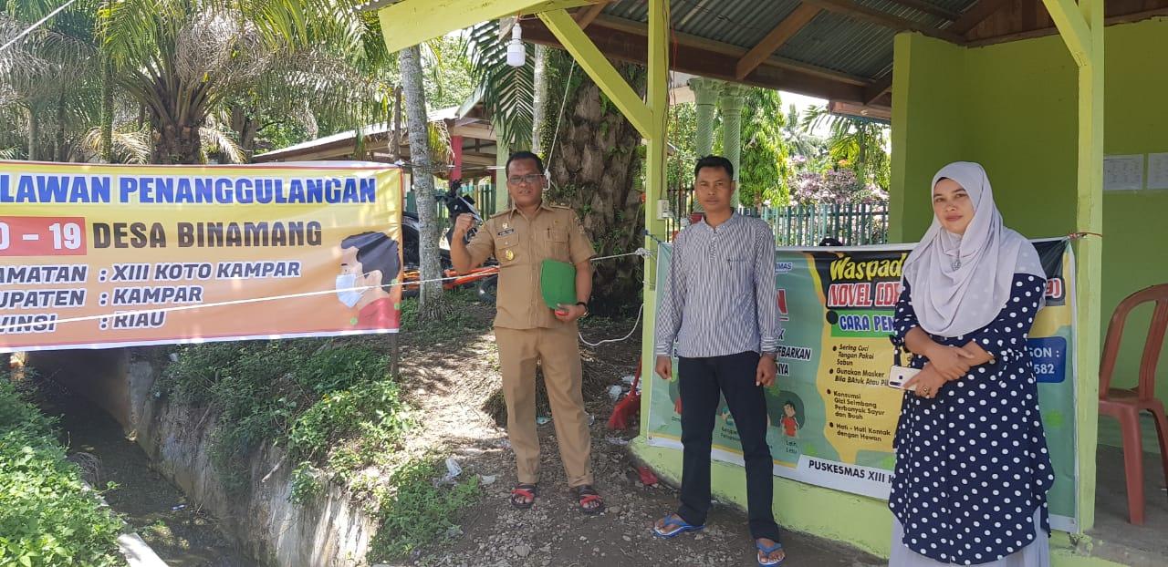 Desa Binamang dan Desa Intan Jaya lakukan Aksi Nyata Putuskan Mata Rantai Penyebaran Virus Corona